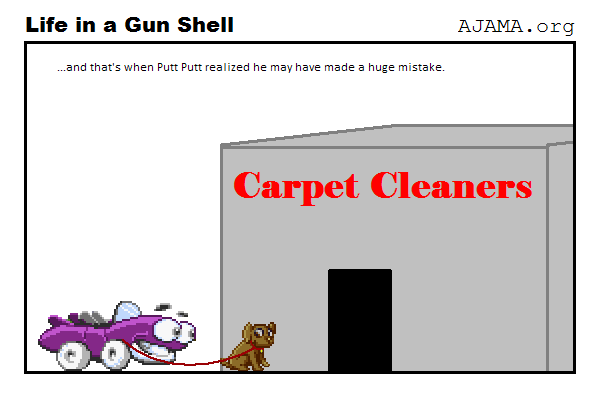 Putt Putt can't go to a CarPet Cleaner
